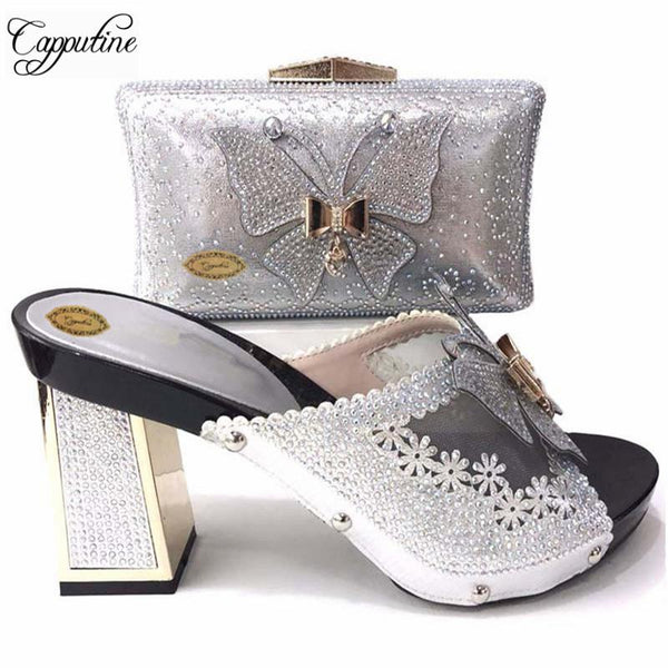 Cute Italian High Heel With Matching Bags