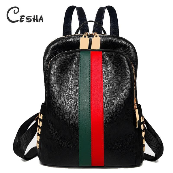 Luxury Casual Shoulders Leather Backpack