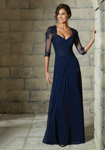 Party Evening Elegant Dresses 3/4 Sleeve