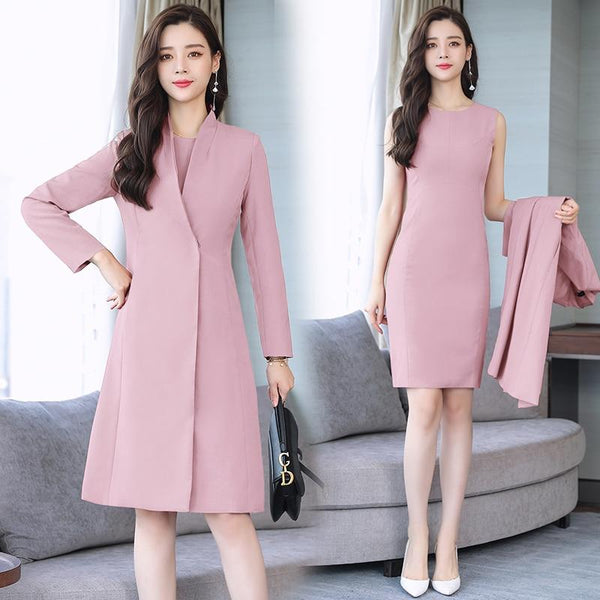 2 Piece Women Vogue Slim Office