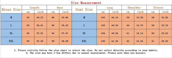 Putshy Size Guide