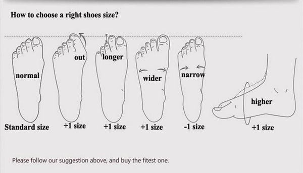 High Heel Size Guide