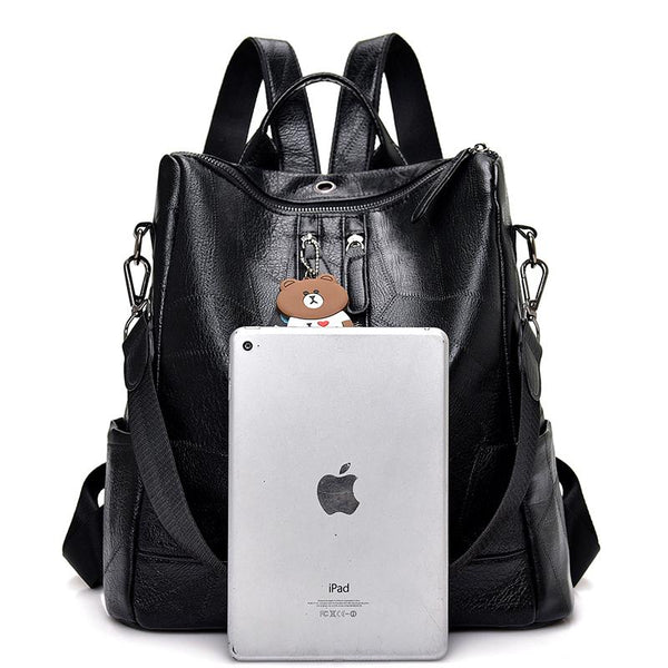 High Quality Youth Leather Shoulder Backpacks