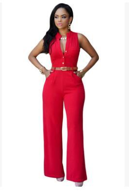 Wide Leg pants Rompers Women jumpsuit