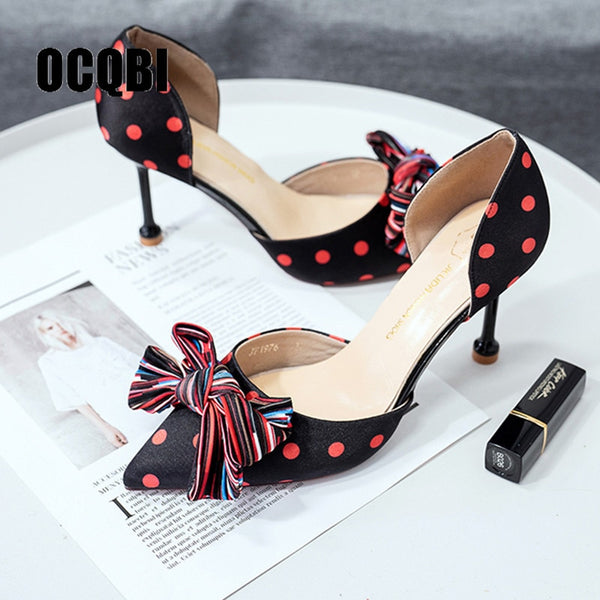 Elegant Farbic Sandals High Heels