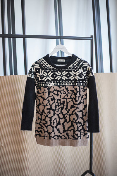 SWEATER ROMBS Y ANIMAL PRINT
