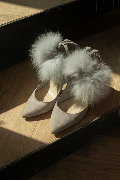 ZAPATOS Moonstone Suede Pumps