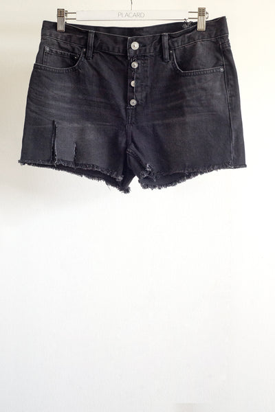 SHORT RASGADO DENIM NEGRO