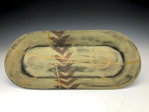 Oval Serving Tray 3