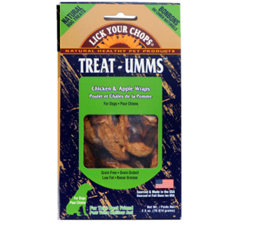 Treat-Umms Chicken and Apple Wraps