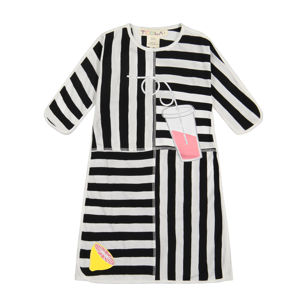 Teela Black & White Lemonade Dress