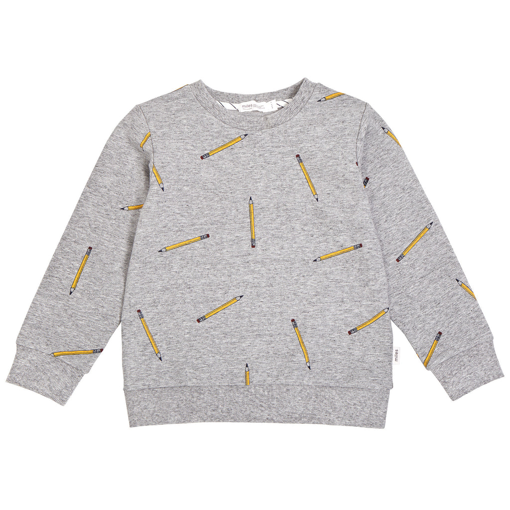 Miles Heather Grey Pencil Top