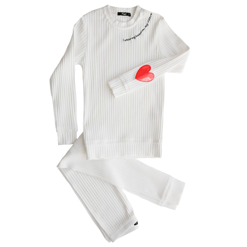 Noggi Red Heart On My Sleeve Loungewear