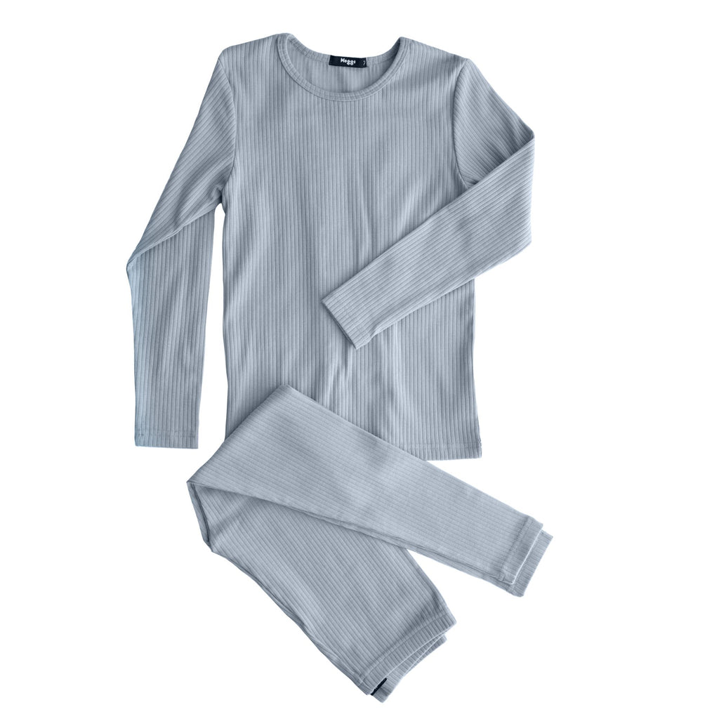 Noggi Dusty Blue Back Tie Loungewear