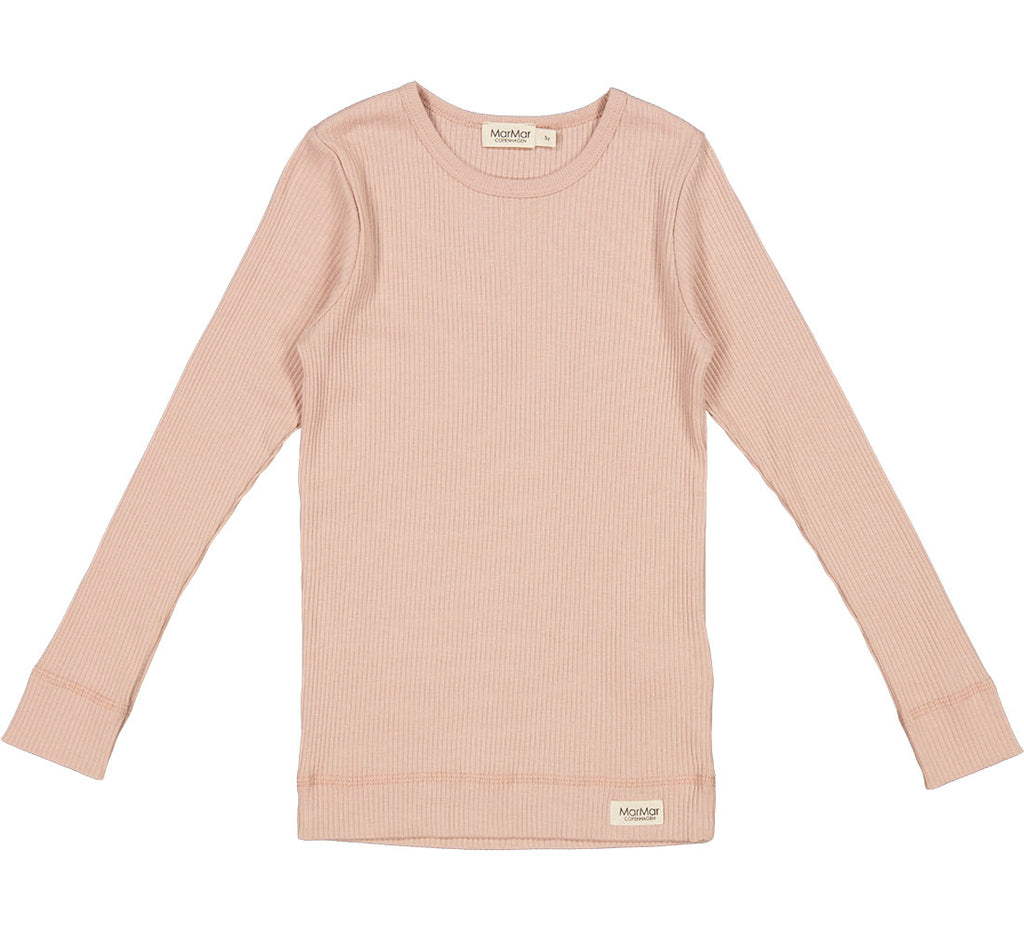 Mar Mar Pink Ribbed Long Sleeve Tshirt