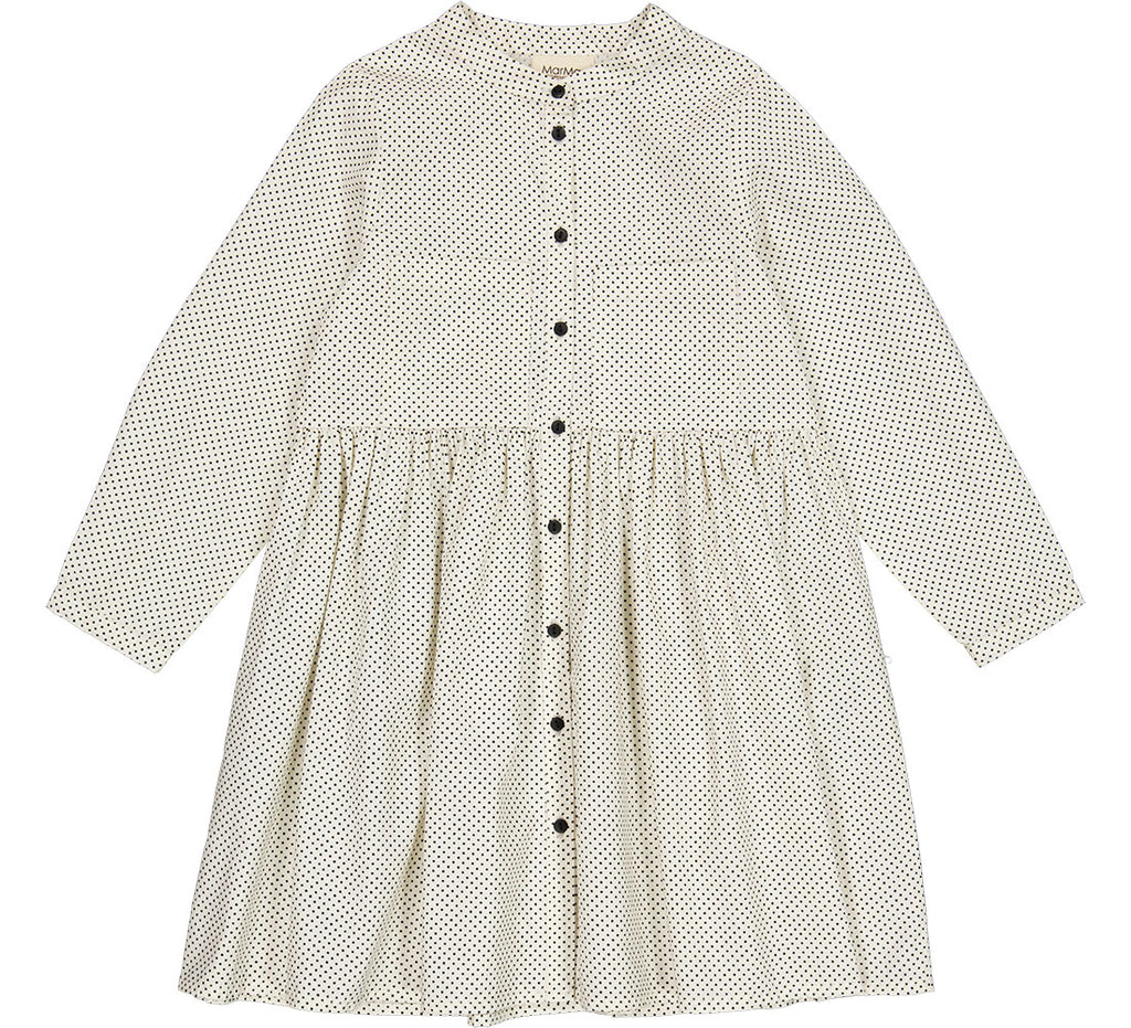 Mar Mar Off White Tiny Dot Long Sleeve Dress
