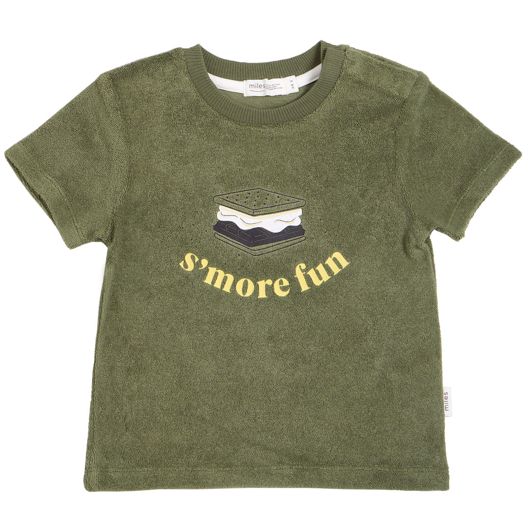 Miles Olive Smore Terry Tshirt