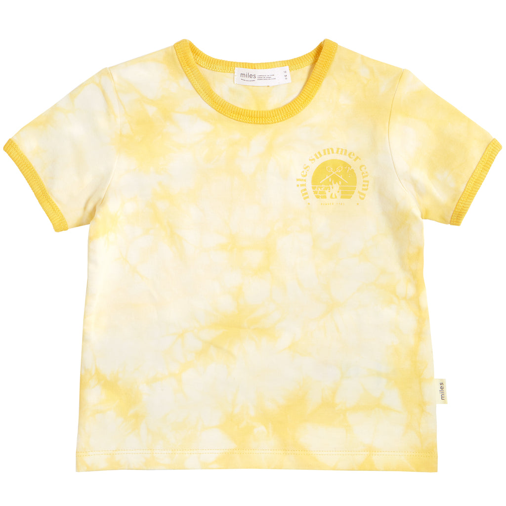 Miles Yellow Tie Dye Summer Camp Tshirt