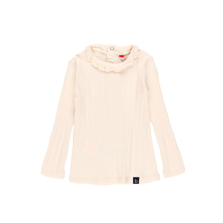 Boboli Ecru Frill Collar Knit Top