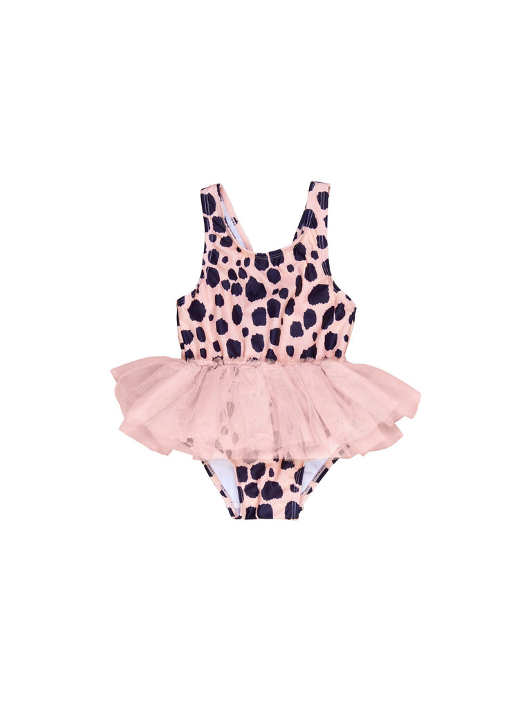 Hux Bright Rose Ocelot Ballet Swimsuit
