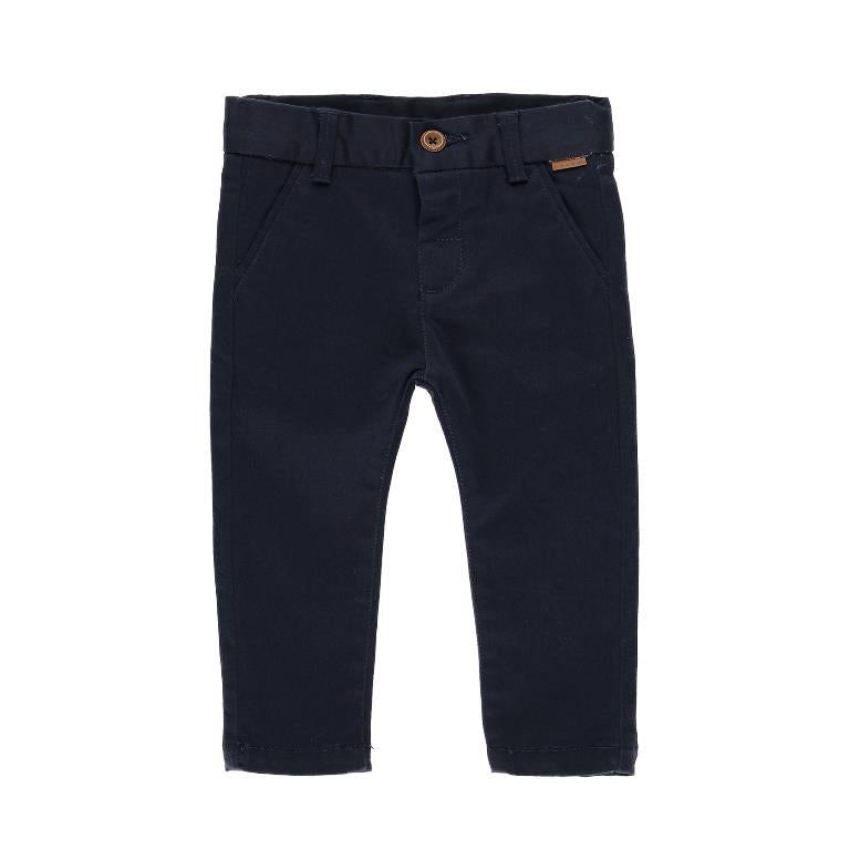 Boboli Navy Satin Stretch Pants