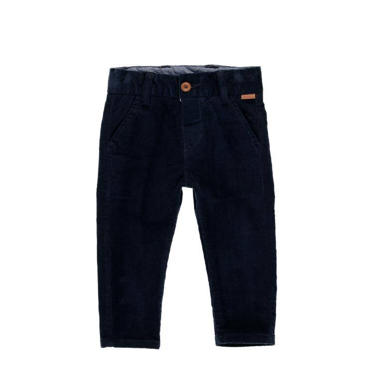 Boboli Navy Microcorduroy Trousers