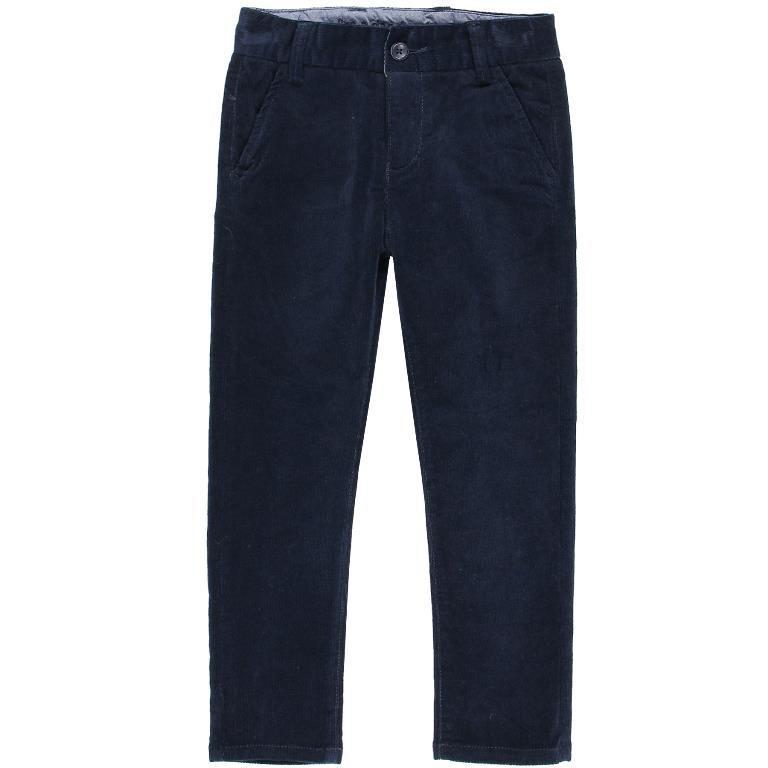 Boboli Navy Microcorduroy Big Boy Pants