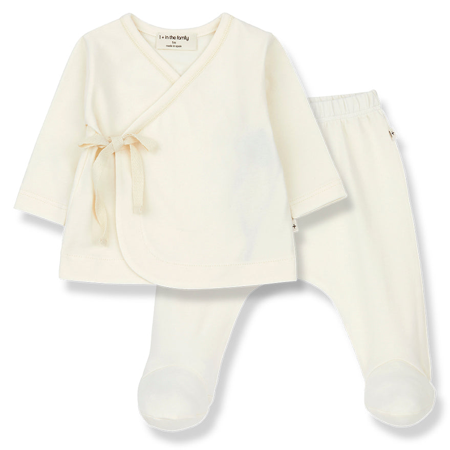 1+ in the family Babette Ecru Baby Set