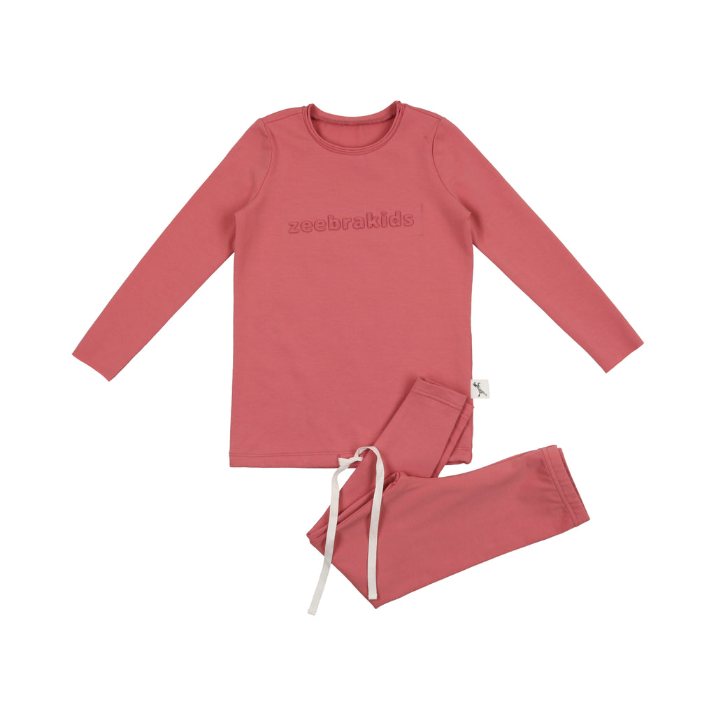 Zeebra Blushing Rose Signature Logo Loungewear