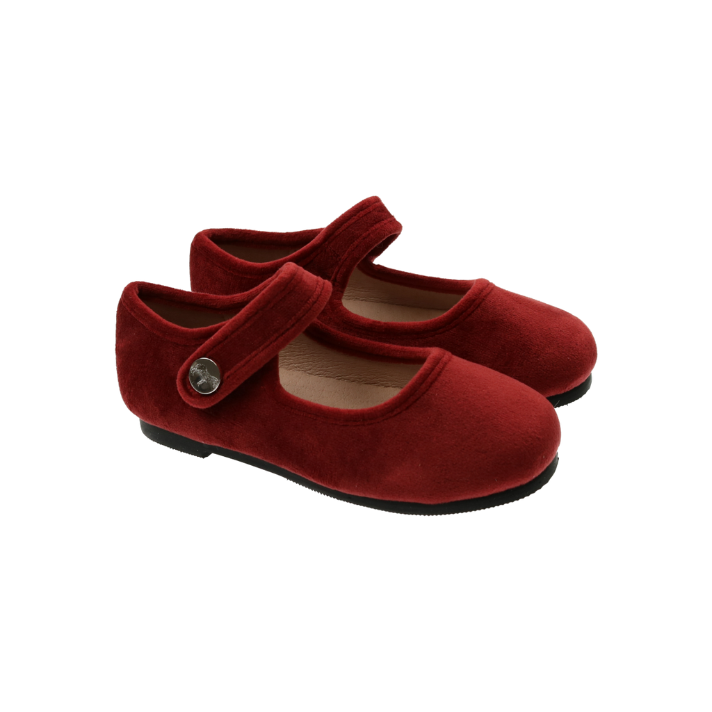 Zeebra Kids Burnt Sienna Classic Velvet Mary Jane