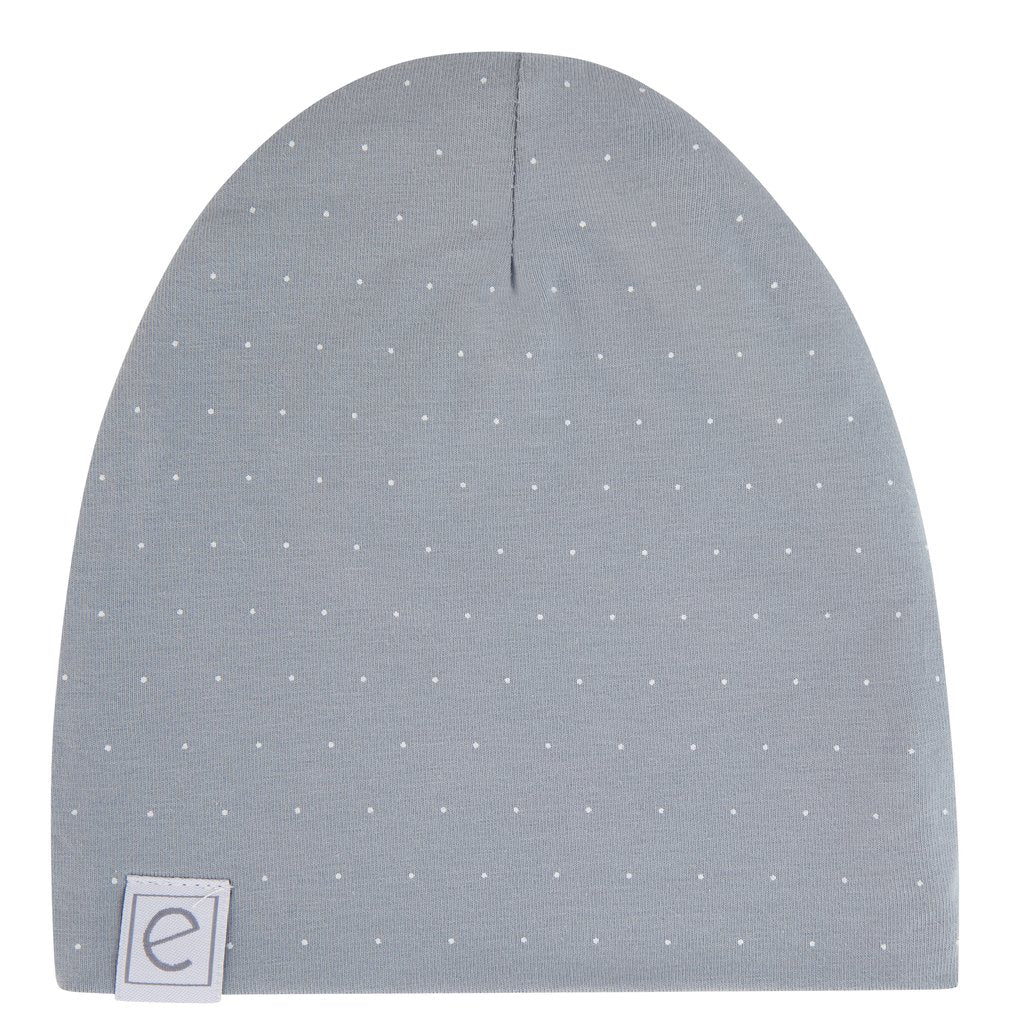 Ely's & Co. Misty Blue Pin Dot Beanie