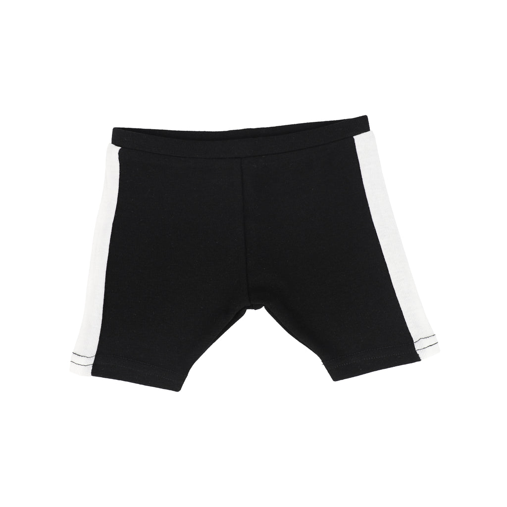 Analogie of Lil Legs Black & White Linear Shorts