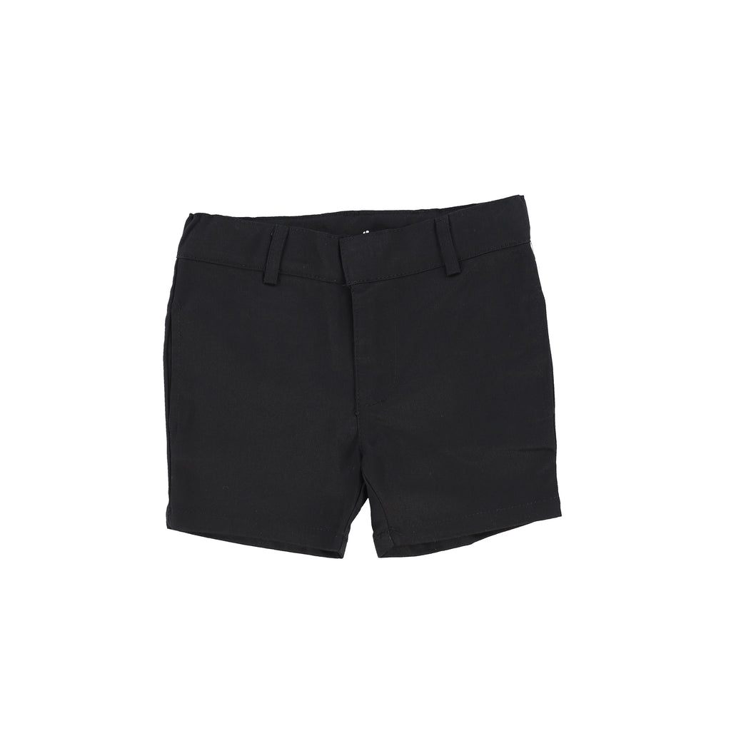 Lil Legs Black Cotton Shorts