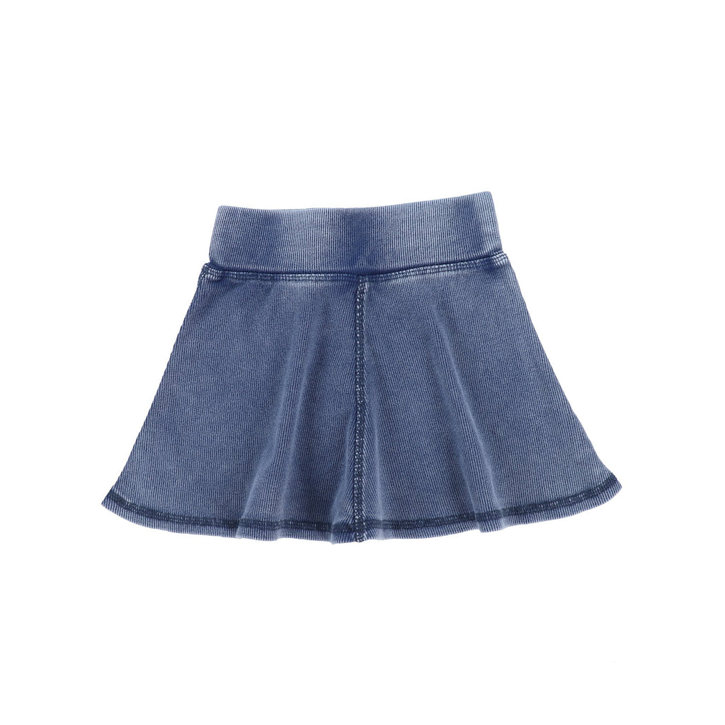 Lil Legs Blue Wash Ribbed Skirt
