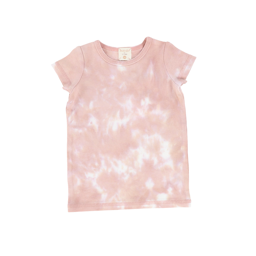 Lil Legs By Analogie Blush Watercolor Short Sleeve T-shirt