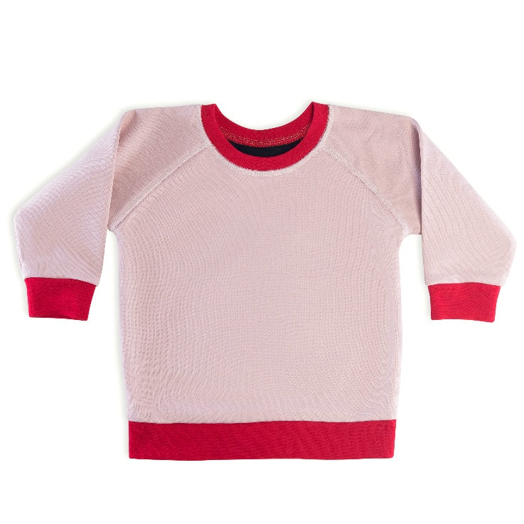 The Red League French Terry Black Pink & Red Top