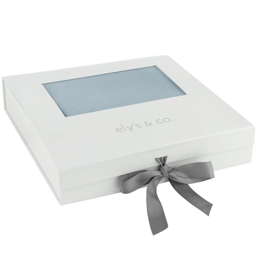 Ely's & Co. Misty Blue Pin Dot Layette Gift Box