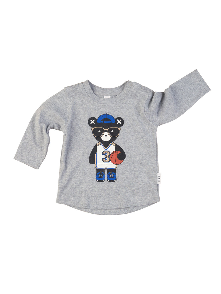 Hux Baby Grey Marled Basketball Top