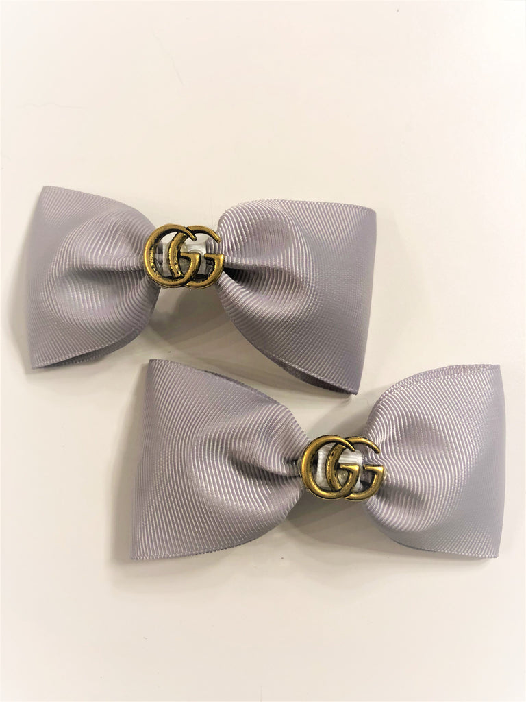 Baby Bowtique Grey Gucci Inspired Hair Clip