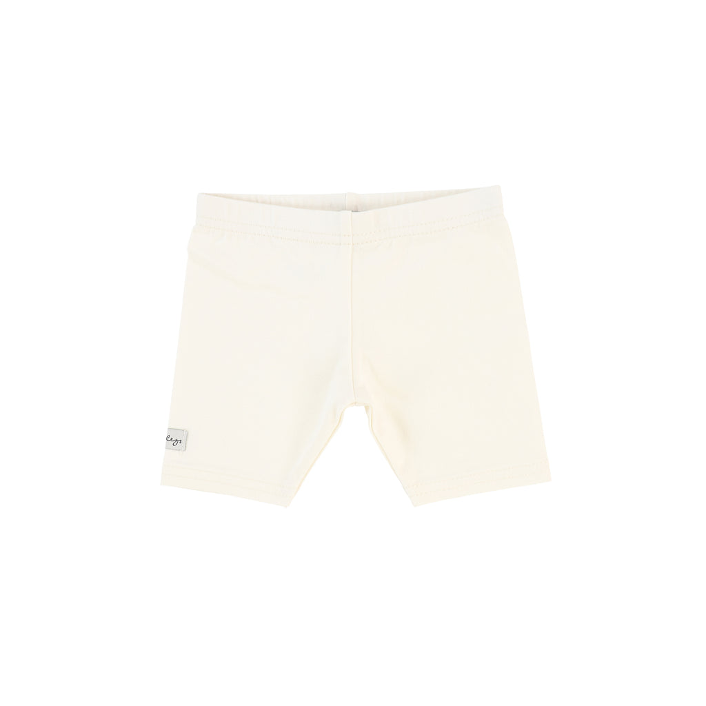 Lil Legs Ivory Short Leggings