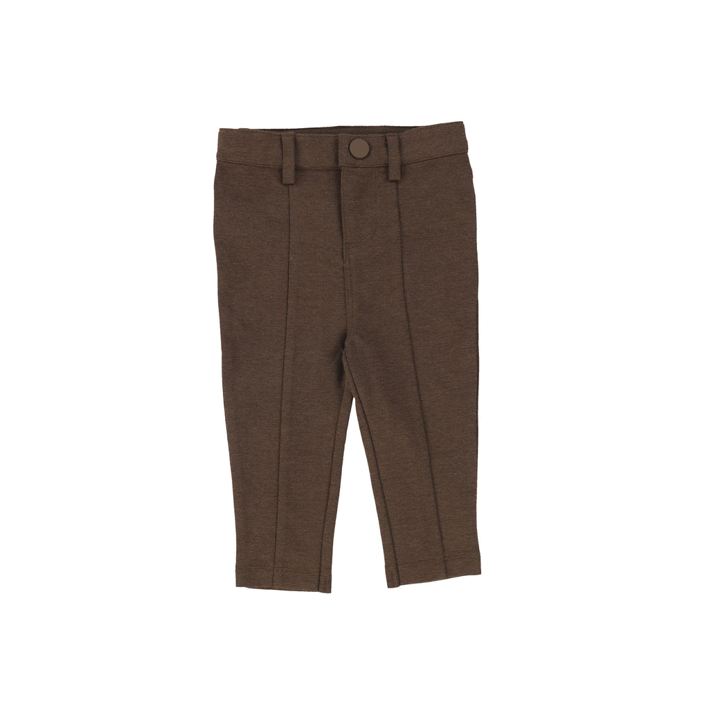 Lil Legs Dark Walnut Knit Pants