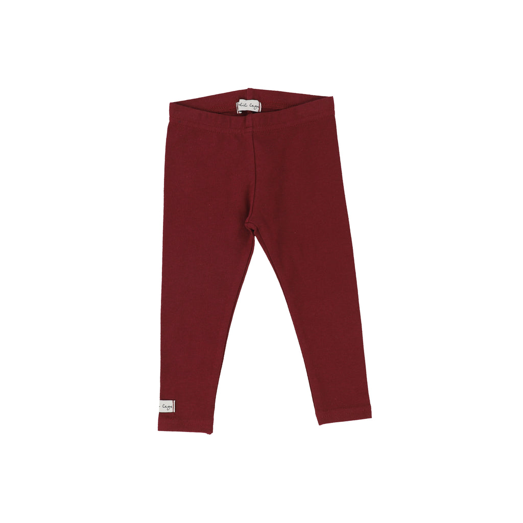 Lil Legs Burgundy Long Leggings