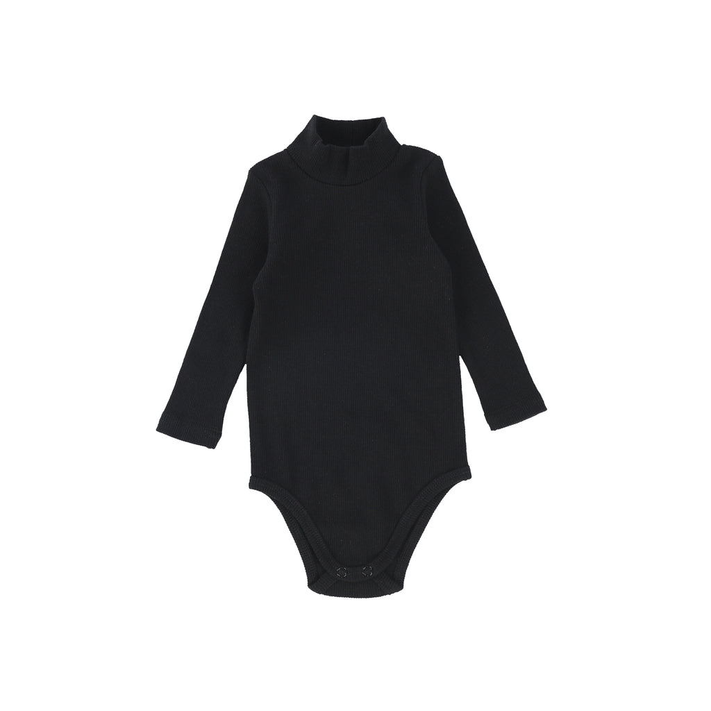 Lil Legs Black Turtleneck Onesie