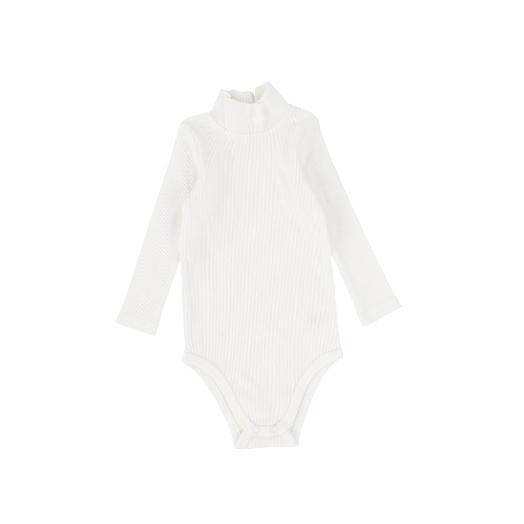 Lil Legs Winter White Rib Turtleneck Onesie