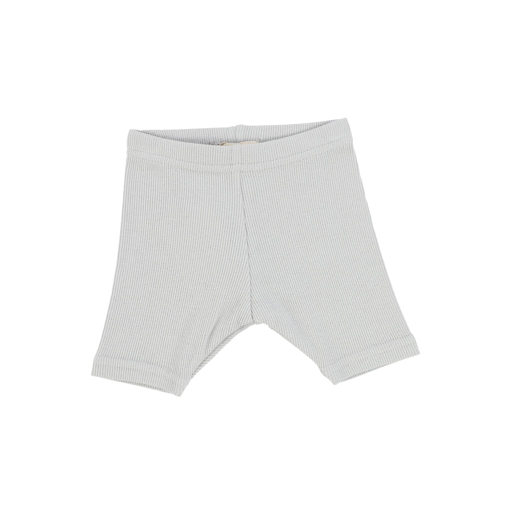 Lil Legs Light Grey Ribbed Shorts