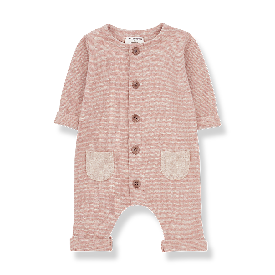 1+ In The Family Pink & Cream Montblanc Jumpsuit