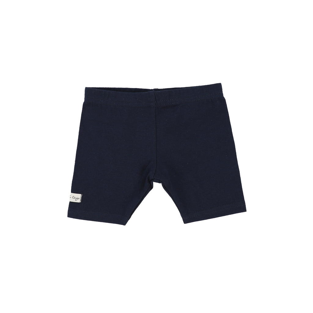 Lil Legs Navy Short Leggings