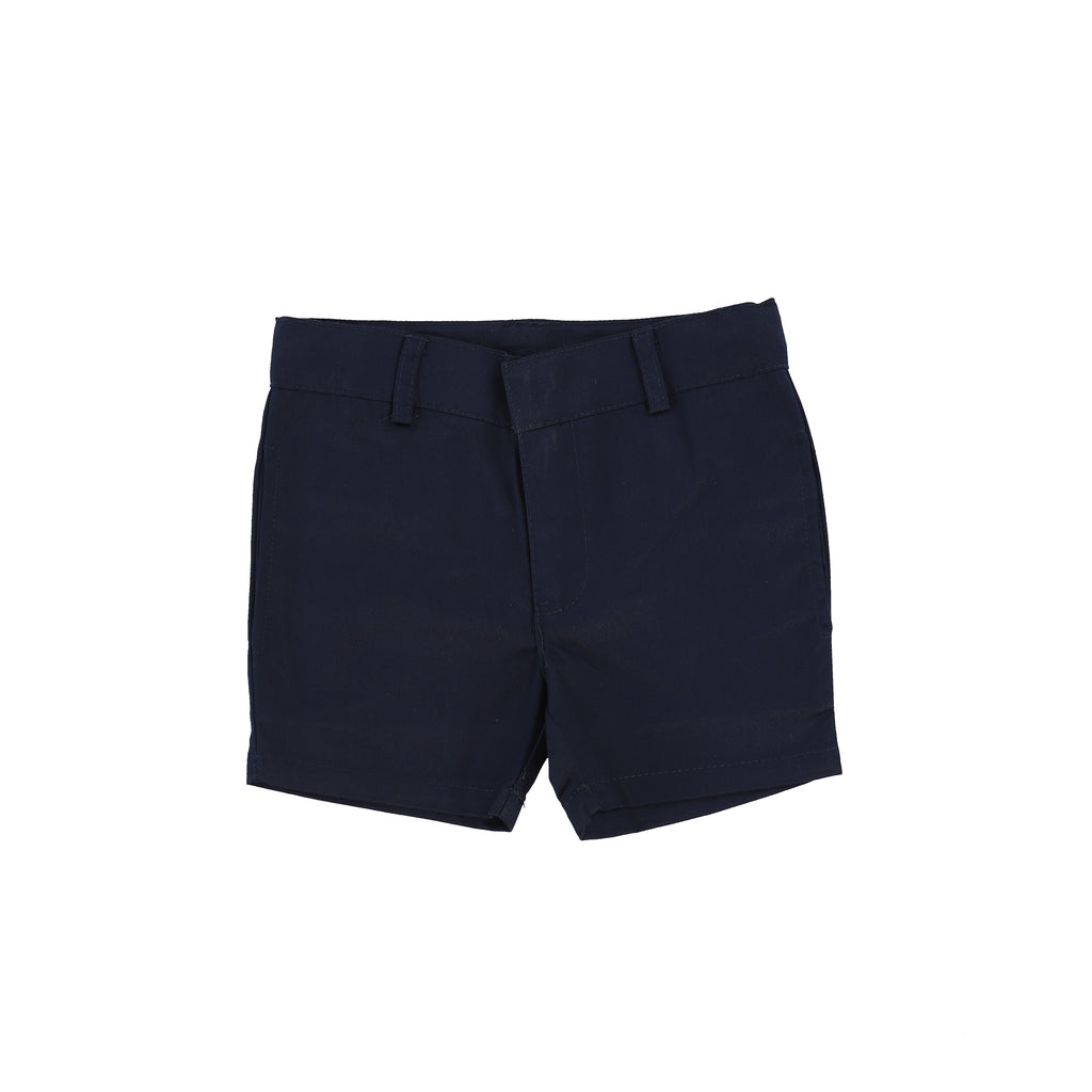 Lil Legs Navy Cotton Shorts