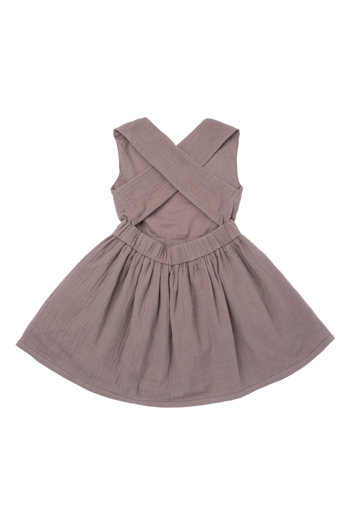 OMAMImini Stone Pinafore Gauze Dress