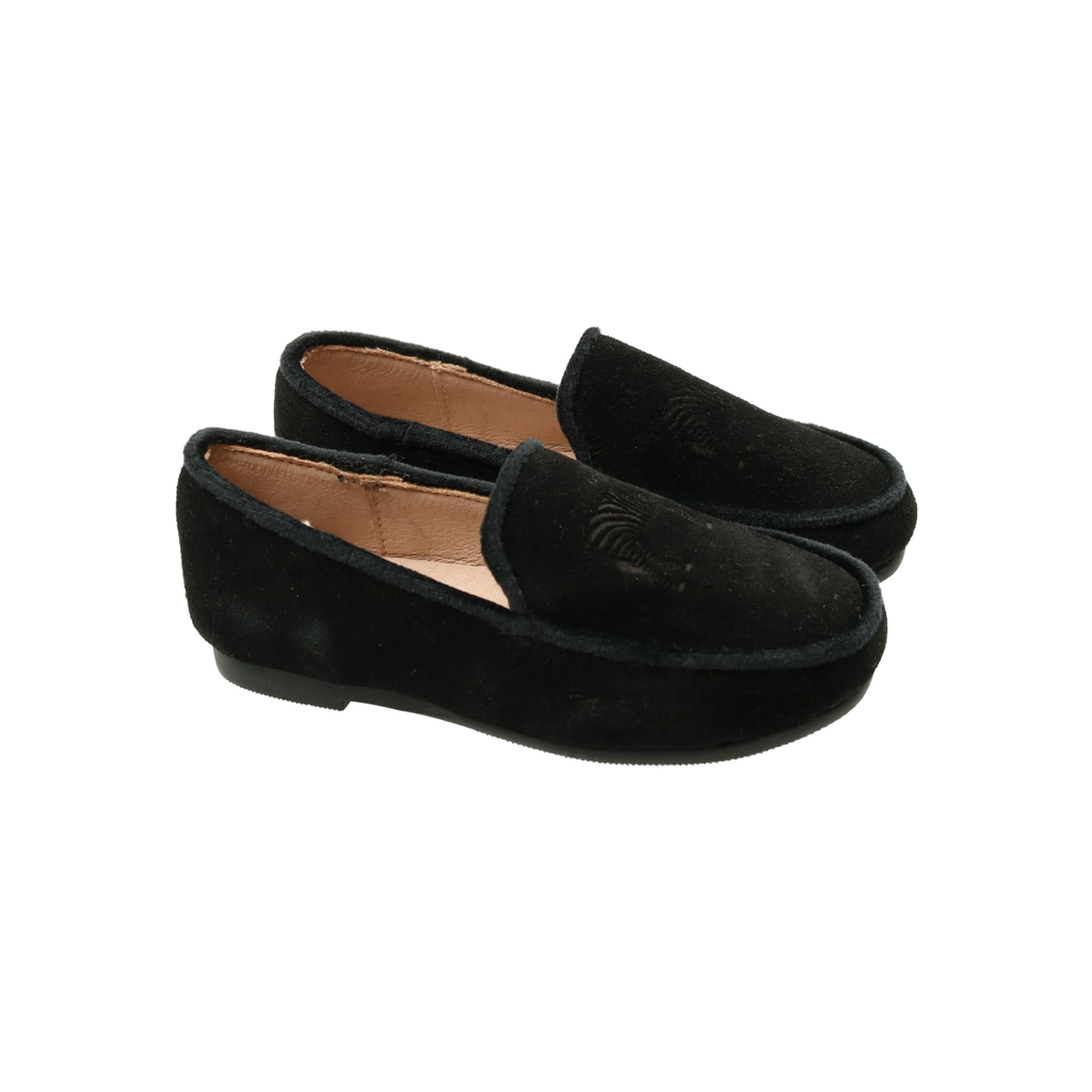 Zeebra Kids Onyx Embossed Logo Loafer